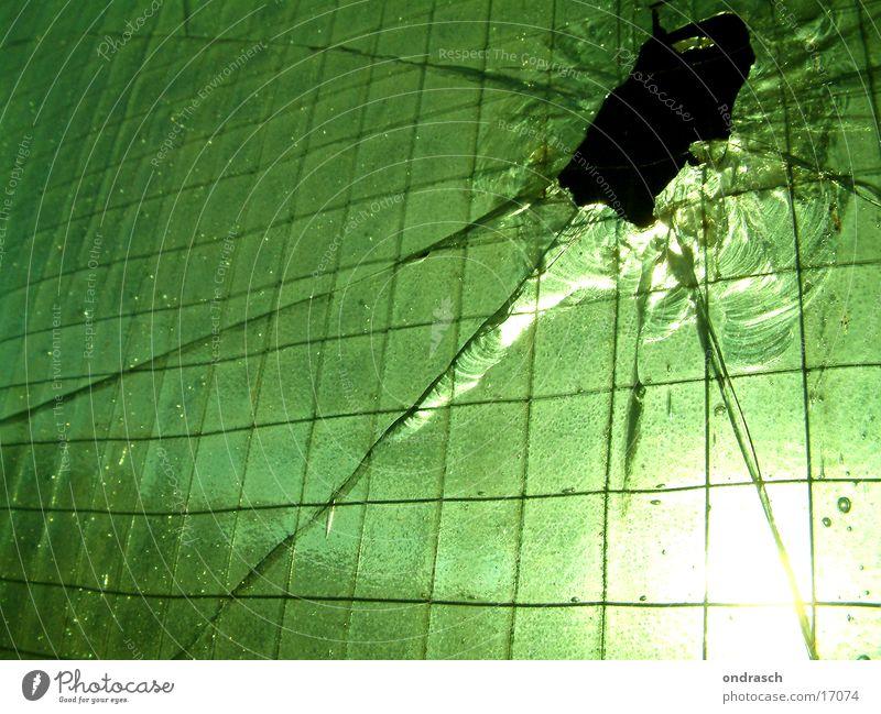 Glass envelope | No2 Splinter Light Back-light Green Factory Architecture Window pane Hollow Sun