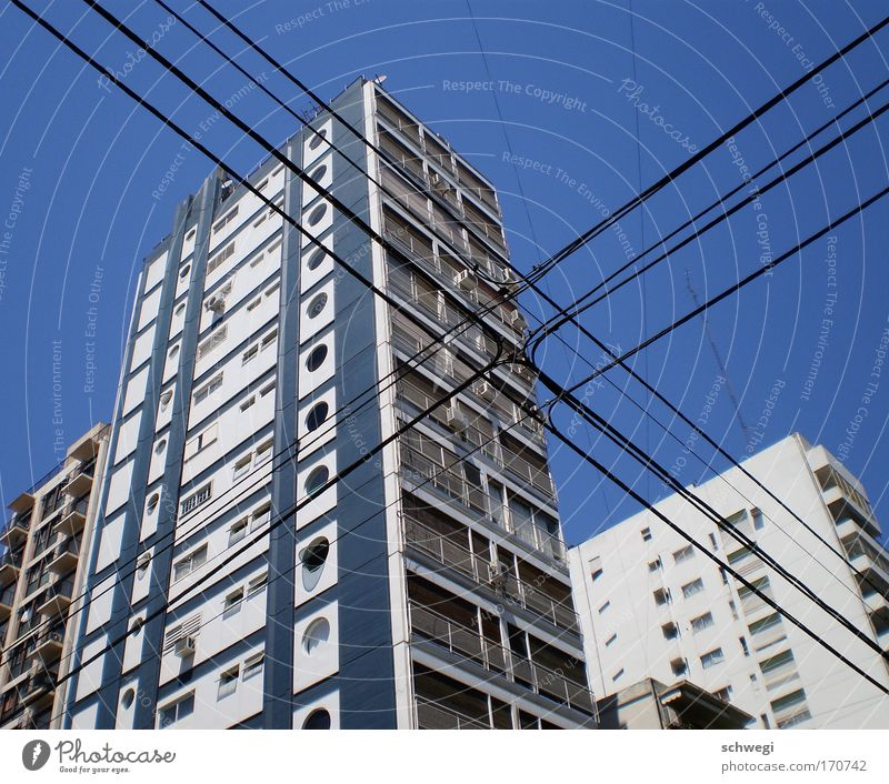 Blue City Summer House (Residential Structure) Street Window Building Architecture High-rise Facade Fresh Perspective Electricity Telecommunications Living or residing Crucifix