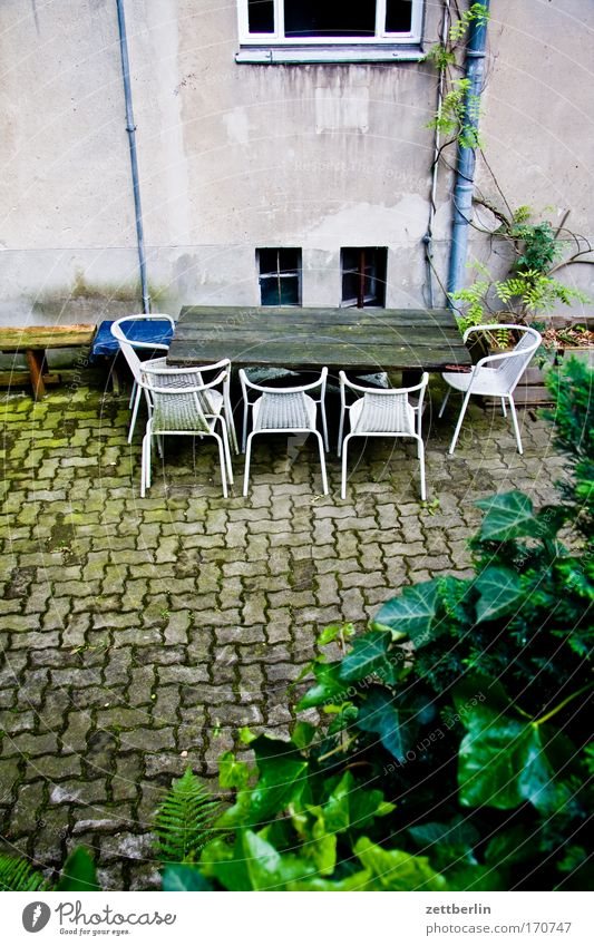 House (Residential Structure) Empty Nutrition Table Chair Furniture Meeting Meal Backyard Agree Assembly Courtyard Discussion Communicate