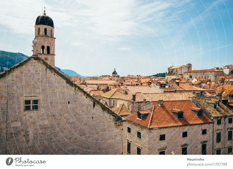 Dubrovnik Vl Vacation & Travel Tourism Sightseeing City trip Sky Clouds Summer Beautiful weather Mountain Croatia Town Port City Downtown Old town