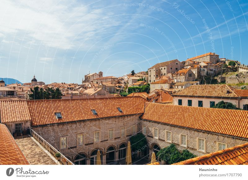 Dubrovnik V Vacation & Travel Tourism Sightseeing City trip Flat (apartment) House (Residential Structure) Architecture Sky Clouds Summer Croatia Town Port City