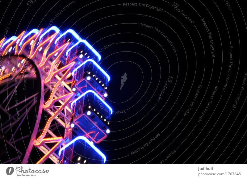 Ferris wheel Joy Leisure and hobbies Vacation & Travel Trip Night life Event Going out Feasts & Celebrations Carnival Oktoberfest Fairs & Carnivals Night sky