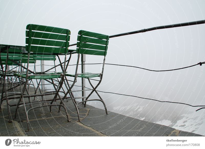 White Green Calm Black Clouds Life Emotions Mountain Gray Air Moody Fog Trip Table Tourism Chair