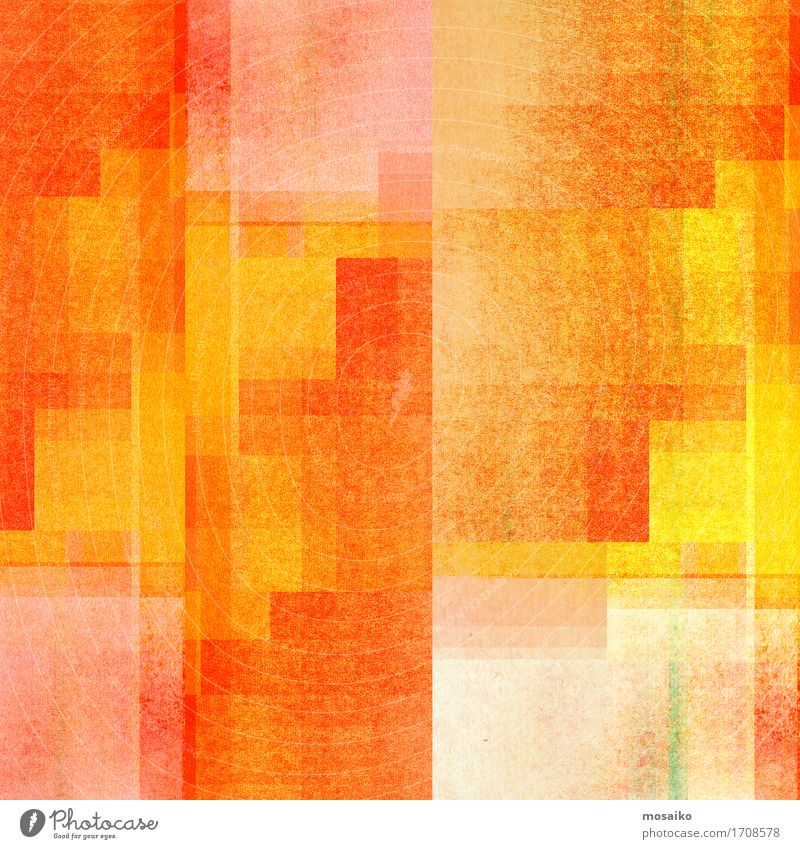 graphic forms - orange and yellow Lifestyle Elegant Style Design Joy Harmonious Well-being Friendliness Happiness Contentment Abstract Background picture