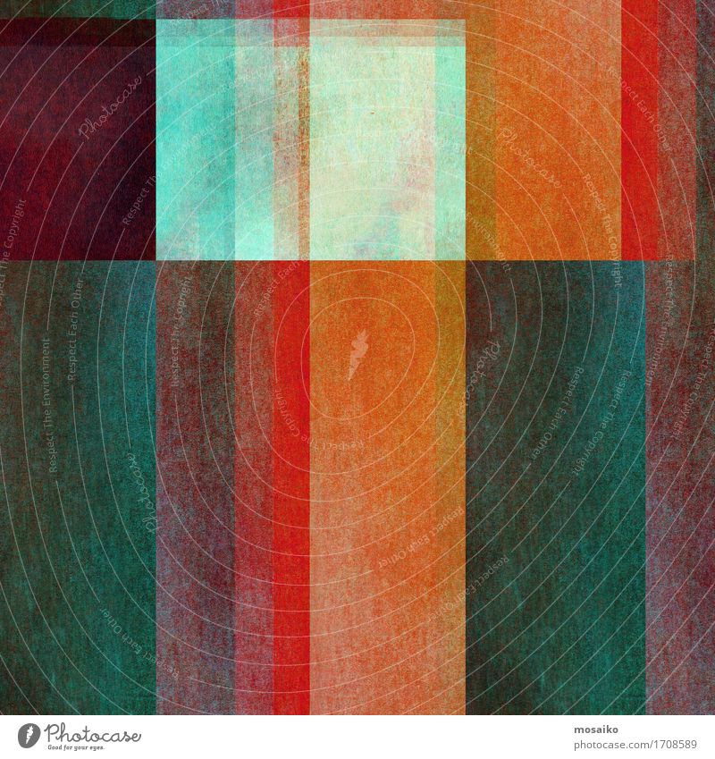 Graphic shapes Elegant Style Design Paper Graffiti Old Esthetic Cool (slang) Hip & trendy Blue Brown Gray Green Orange Red Turquoise Colour Leisure and hobbies
