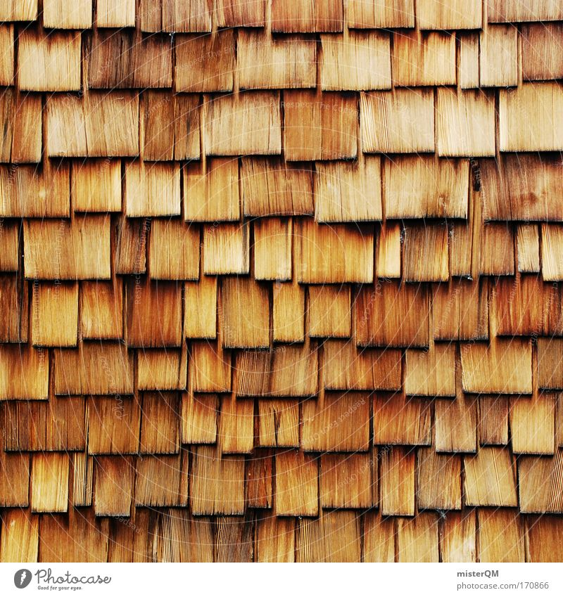 Old House (Residential Structure) Wood Art Facade Modern Roof Many Retro USA Tile Attachment Markets Construction Weathered Accuracy