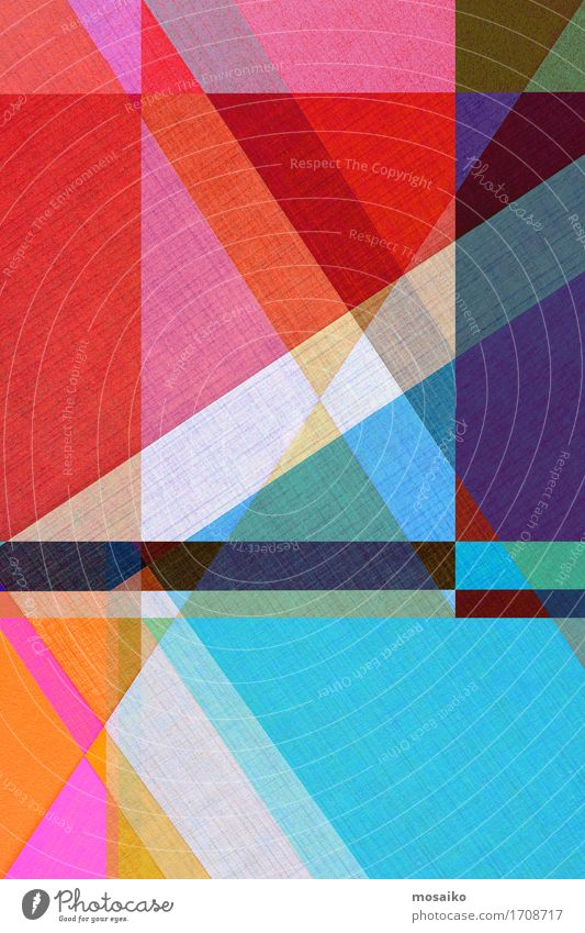 Paper - graphic forms Design Business Esthetic Exceptional Simple Hip & trendy Blue Multicoloured Red Diagonal Background picture Creativity Idea Level