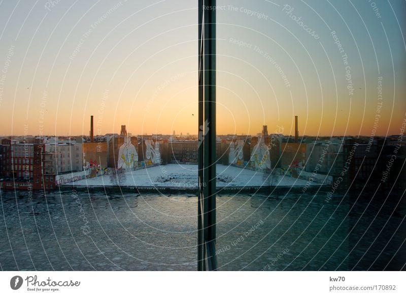 Nature Water Berlin Window Large River bank Symmetry Capital city Friedrichshain Warschauer Bridge