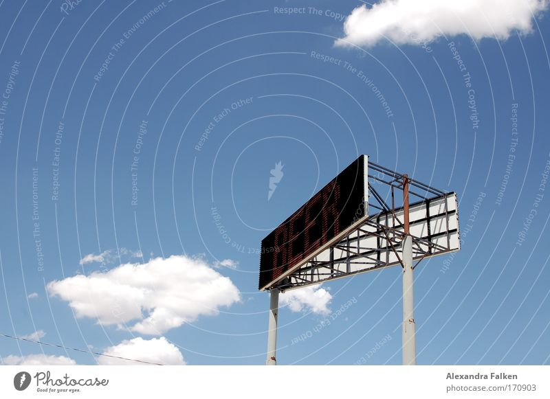 Sky Clouds Technology Communicate Beer Screen Information Technology Display