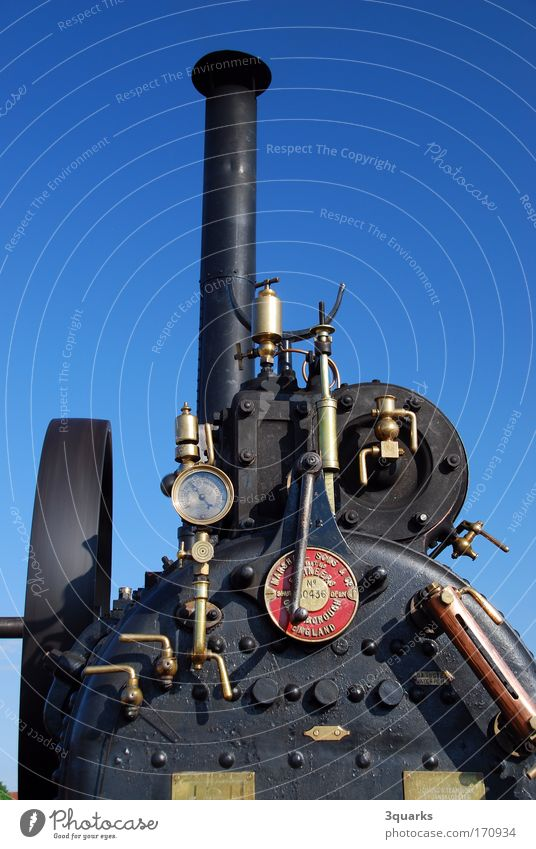 Steam tractor / Locomobile Exterior shot Deserted Motorsports Industry Tool Machinery Engines Technology Advancement Future Transport Means of transport Tractor
