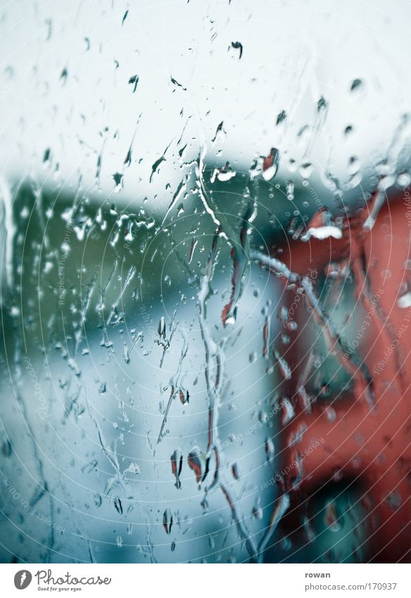 City Dark Cold Window Sadness Rain Glass Drops of water Wet Grief Gloomy Living or residing Boredom Window pane Bad weather