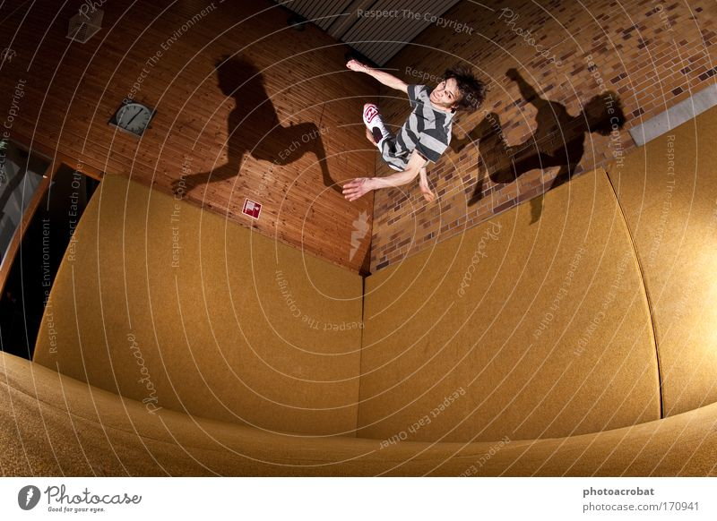 Flip Starling Colour photo Flash photo Light Shadow Fisheye Lifestyle Style Sports freerunning Salto Parkour acrobatic Flying Exceptional Healthy Infinity