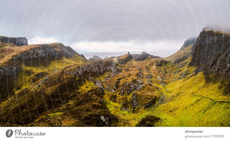 The Quiraing Well-being Relaxation Vacation & Travel Tourism Trip Adventure Far-off places Freedom Sightseeing Mountain Hiking Nature Landscape Plant Elements