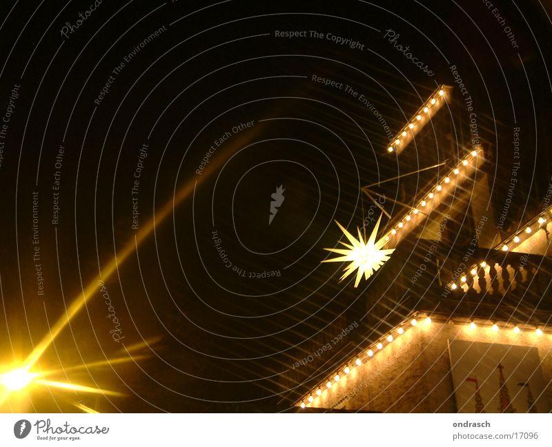 Christmas & Advent Street Lamp Dark Lighting Star (Symbol) Lantern Fairy lights Photographic technology Manger