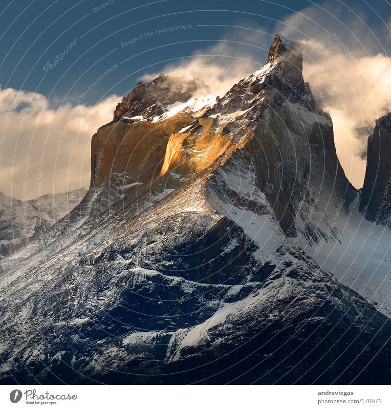 Torres del Paine, Patagonia Nature Mountain Landscape Peak Beautiful weather Self-confident Bravery Snowcapped peak