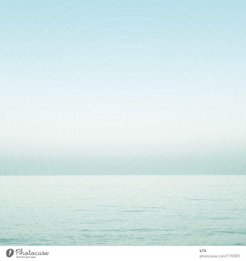 Sea piece III Ocean Lake Water Light Sky Glittering Bright Easy Blue Horizon Fresh Calm Deserted
