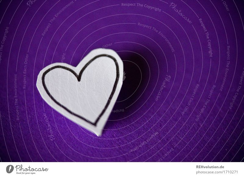 heart Heart Violet Sympathy Together Love Loyalty Romance Happy Religion and faith Painted Drawing Paper Wedding Matrimony Couple Partner Sincere Colour photo