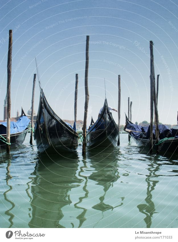 Gondolas on the Grand Canal Colour photo Exterior shot Day Front view Vacation & Travel Tourism Environment Landscape Water Sky Horizon Coast Adriatic Sea Ocean