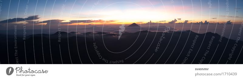 Inerie Sunrise Panorama Calm Vacation & Travel Tourism Trip Adventure Far-off places Freedom Expedition Environment Nature Landscape Sky Clouds Mountain Peak