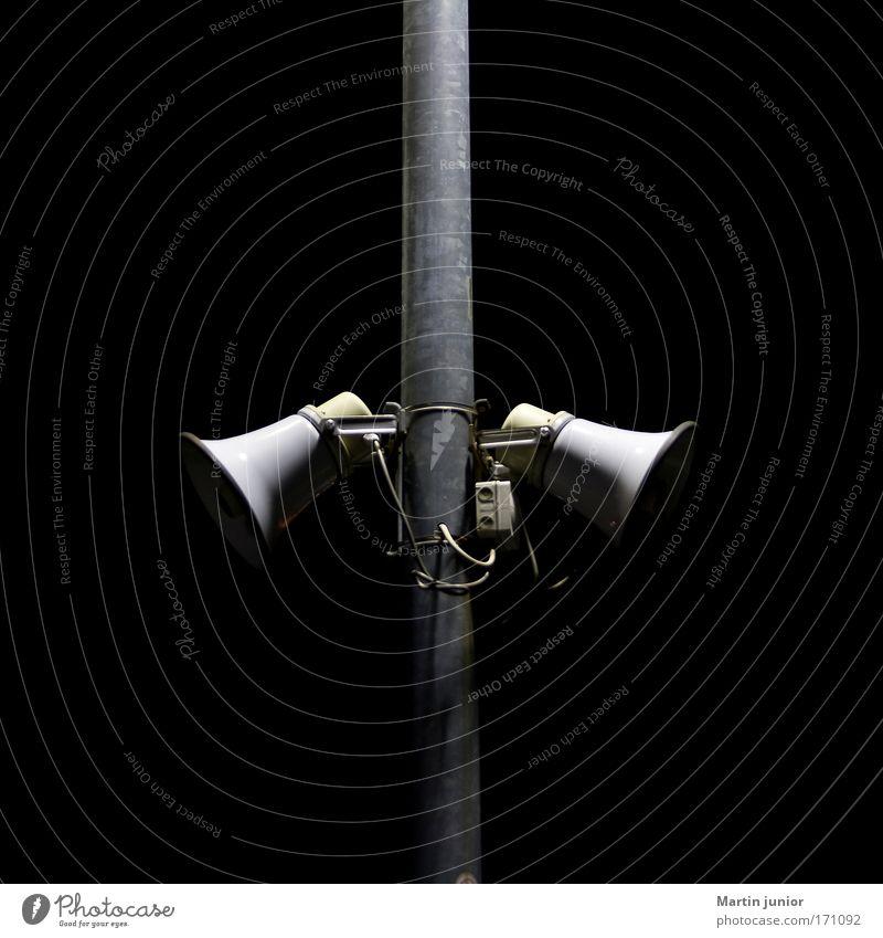 Black Gray Metal In pairs Technology Loudspeaker Object photography Megaphone Siren Speaking tube Light and shadow Reduplication Dark background Indirect light