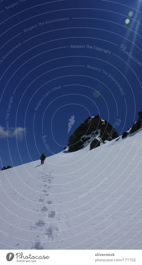 Human being Sky Beautiful Joy Cold Snow Mountain Sports Freedom Bright Going Rock Hiking Adventure Climbing Tracks