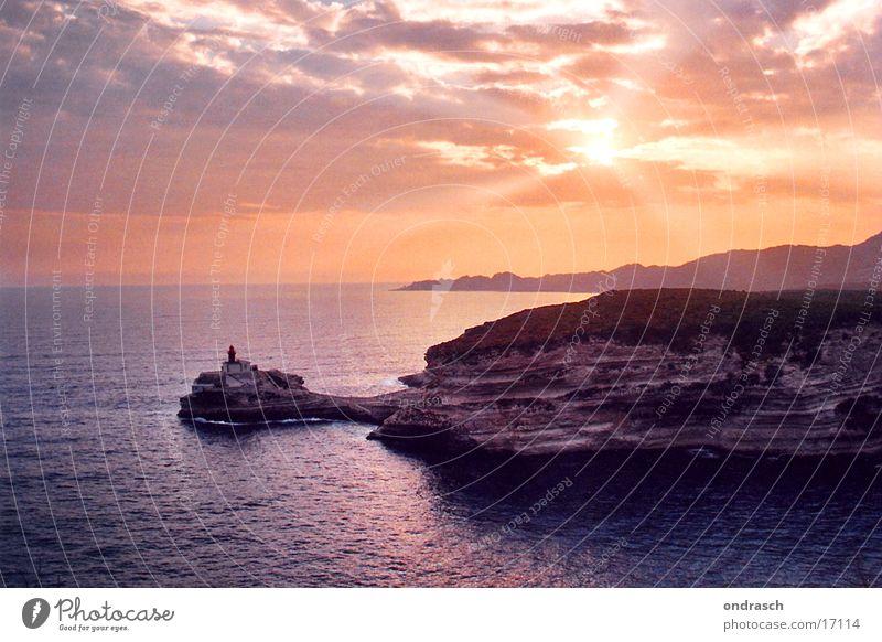 Water Sky Sun Ocean Vacation & Travel Clouds Coast Romance Bay Lighthouse Dusk South