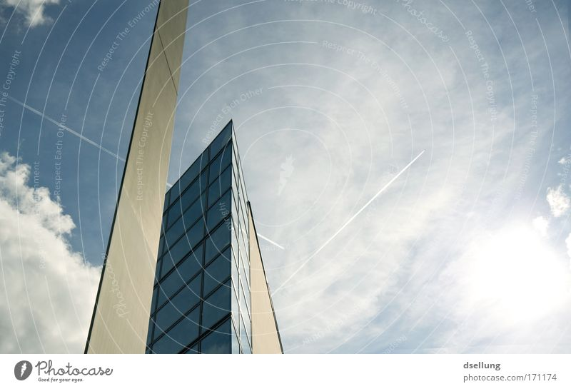 Blue Cold Window Wall (building) Architecture Gray Building Wall (barrier) Germany Glass Facade Concrete Modern Esthetic Europe