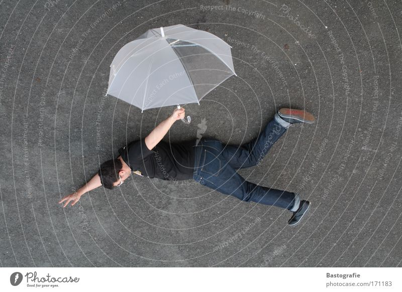 Human being Emotions Freedom Jump Fear Flying Masculine Airplane Speed Dangerous Aviation Perspective Threat To fall Umbrella