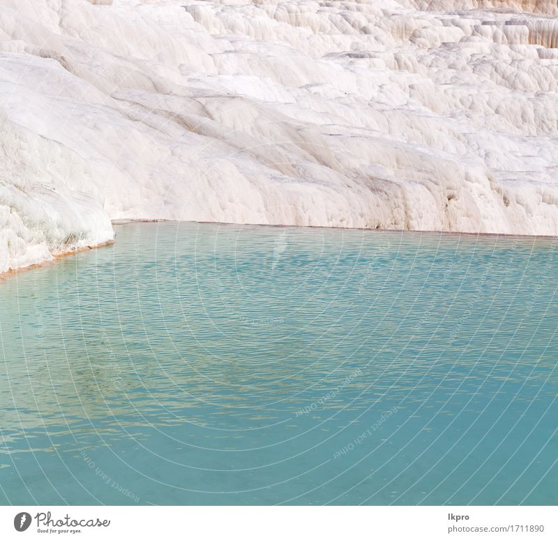 turkey asia the old calcium bath and travertine water Nature Vacation & Travel Blue Beautiful White Landscape Black Mountain Natural Gray Brown Line Rock Pink