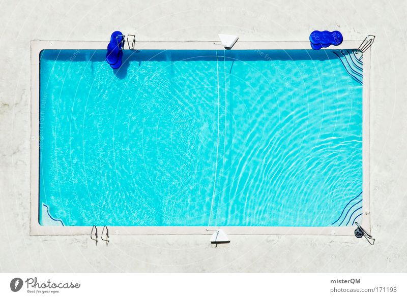 Rectangle Pool Aerial View water old loneliness - a royalty free stock photo from photocase
