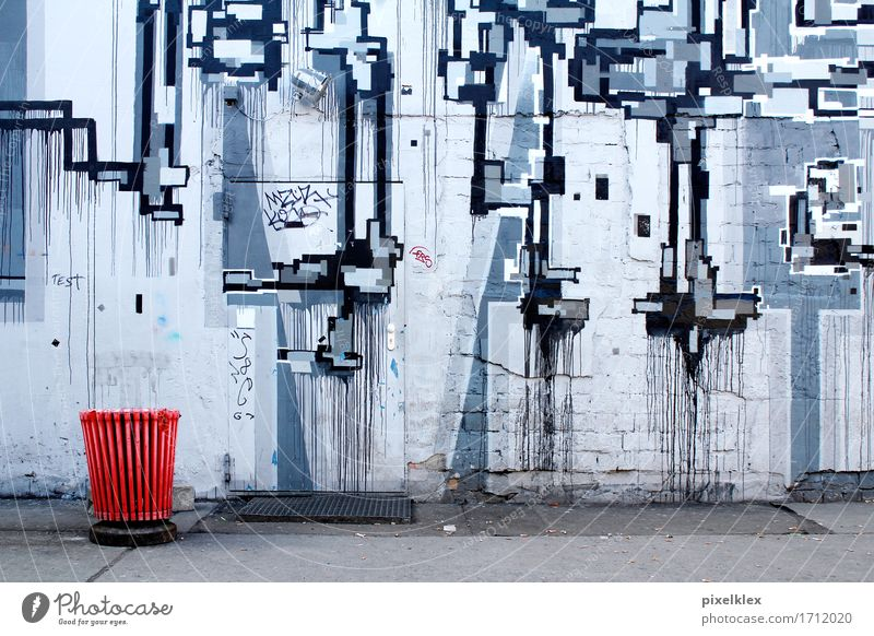 City Colour Red House (Residential Structure) Wall (building) Berlin Building Wall (barrier) Art Gray Germany Door Authentic Creativity Idea Uniqueness