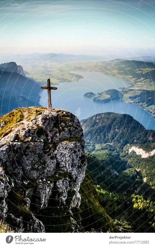 Summit view of the Mondsee lake Vacation & Travel Tourism Trip Adventure Far-off places Freedom Mountain Hiking Environment Nature Landscape Plant Animal Autumn