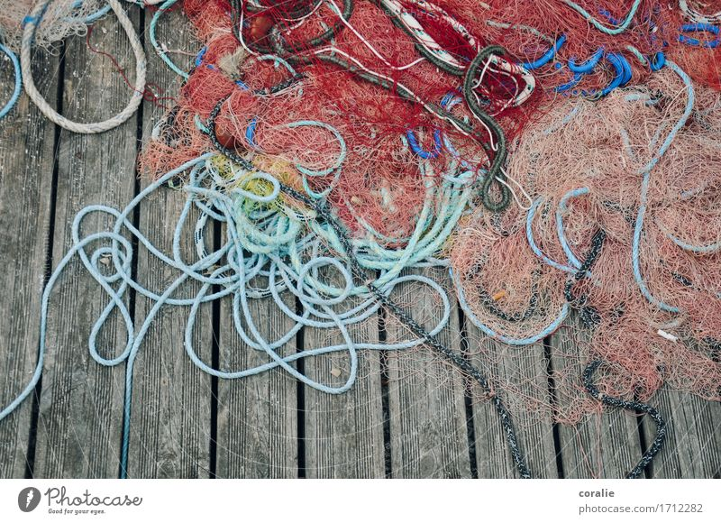 sailor's yarn Fishing village Port City Maritime Fishing net Fishery Fishing port Rope Net Deck Navigation Vacation photo Vacation destination Vacation & Travel