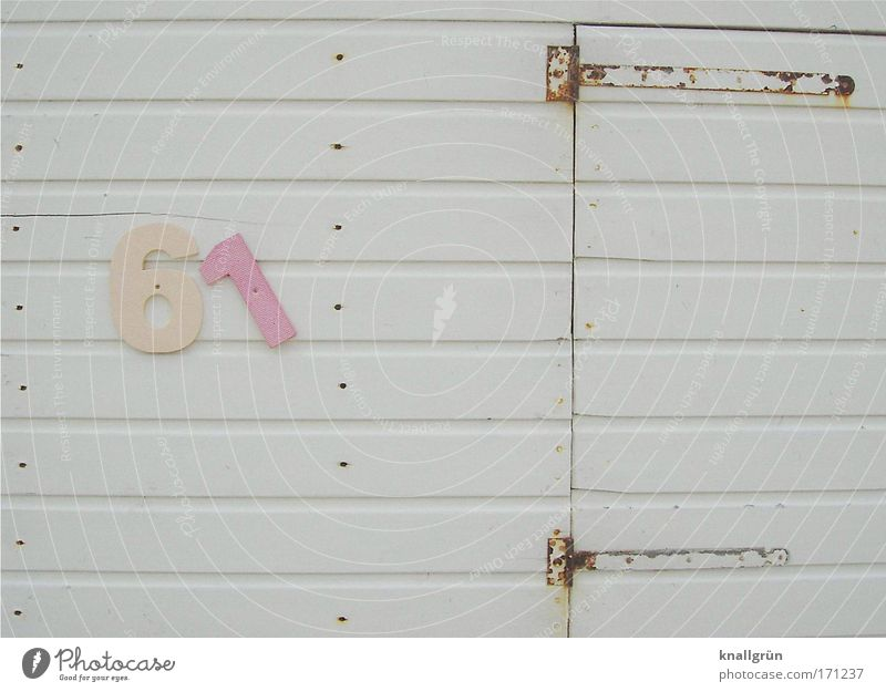 White Ocean Vacation & Travel Relaxation Wood Bright Brown Pink Door Digits and numbers Summer vacation Changing room Wood strip Hinge