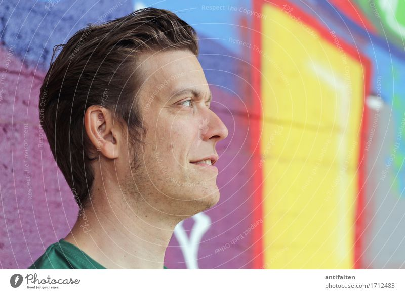 Human being Man Joy Face Adults Eyes Lifestyle Graffiti Style Happy Art Couple Hair and hairstyles Head Trip