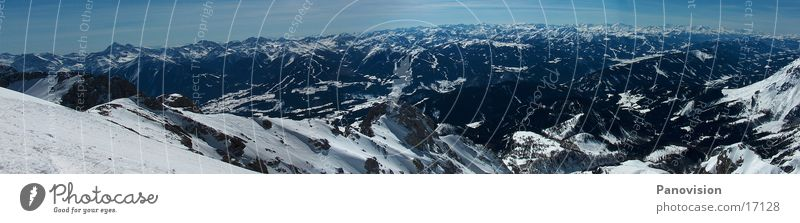 Dachstein-Tauern Panorama Winter Panorama (View) Dachstein mountains Events Nature Mountain freeride Deep snow Large Panorama (Format)