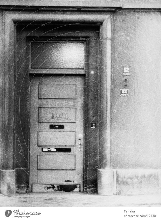 door House (Residential Structure) Architecture Door Black & white photo Old
