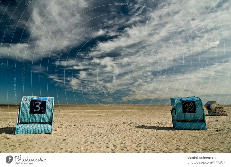 Sky Ocean Summer Beach Calm Clouds Far-off places Relaxation Sand Wind Island Tourism Sunrise North Sea Climate change Summer vacation