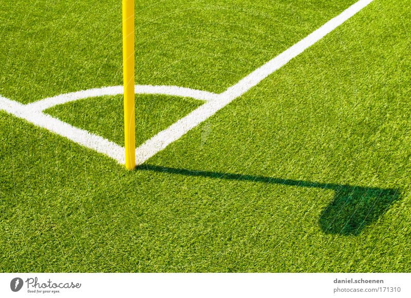 FC Amrum Multicoloured Detail Deserted Copy Space right Copy Space bottom Shadow Silhouette Ball sports Soccer Sporting Complex Football pitch Grass Green