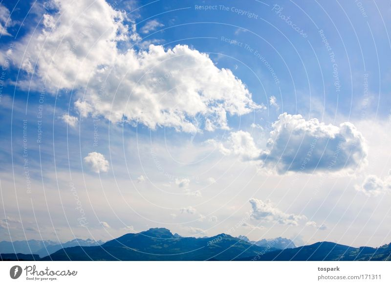 Nature Sky Sun Blue Summer Vacation & Travel Clouds Far-off places Mountain Freedom Dream Landscape Air Environment Large Trip