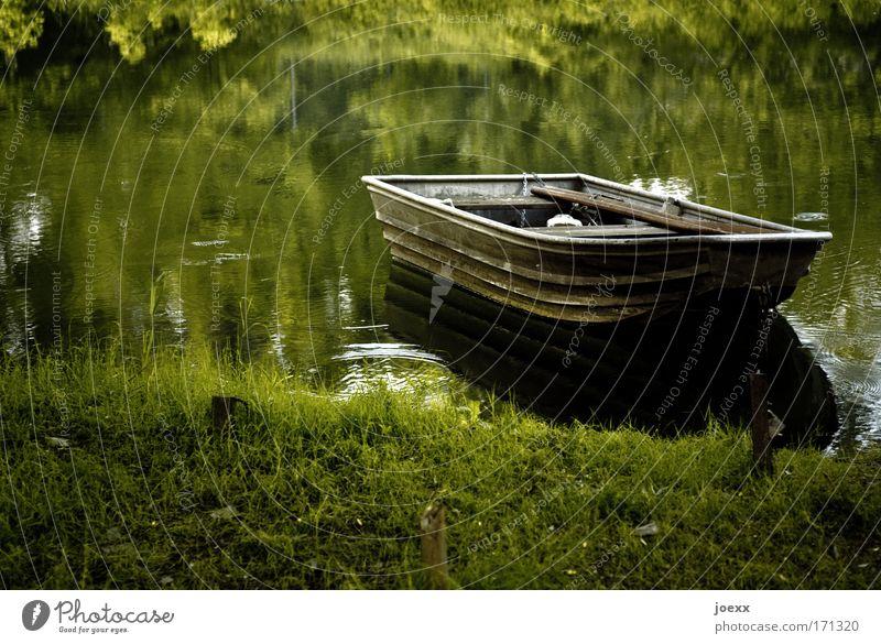 Nature Water Calm Watercraft Meadow Lake River Lakeside Pond River bank Fishing (Angle) Motor barge