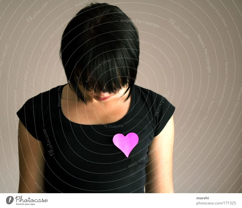 Have your heart in the right place Colour photo Human being 1 Authentic Good Pink Black Emotions Moody Contentment Joie de vivre (Vitality) Power Trust