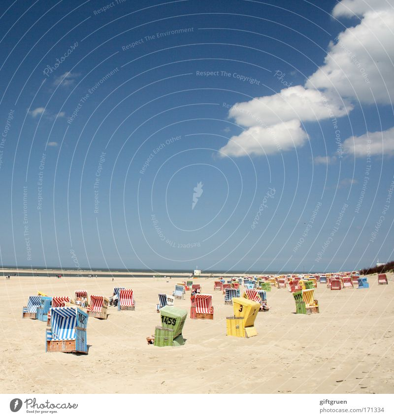 random distribution Colour photo Multicoloured Exterior shot Copy Space top Day Vacation & Travel Tourism Trip Summer Summer vacation Sun Sunbathing Beach Ocean