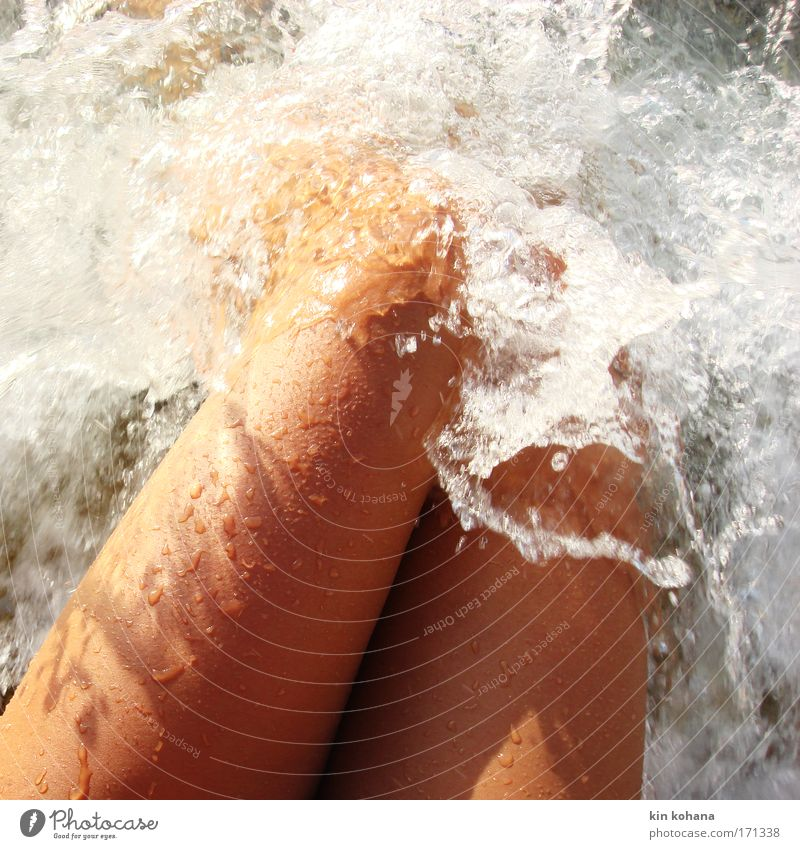 passion _ 03 Colour photo Exterior shot Close-up Nude photography Light Shadow Sunlight Beautiful Relaxation Summer Summer vacation Sunbathing Beach Ocean Waves