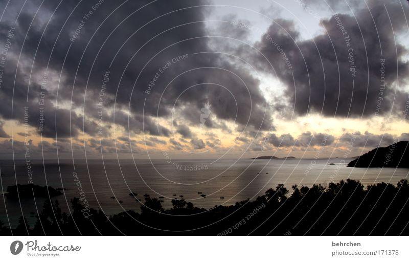 Sky Beach Vacation & Travel Ocean Clouds Far-off places Freedom Sadness Coast Rain Waves Wind Power Trip Island Tourism