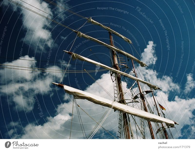 Far-off places Freedom Contentment Leisure and hobbies Adventure Rope Lifestyle Romance Longing Beautiful weather Navigation Luxury Sailing Dynamics Mast