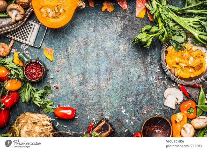 Preparing and cooking autumn vegetables Food Vegetable Nutrition Organic produce Vegetarian diet Diet Crockery Style Design Healthy Eating Life