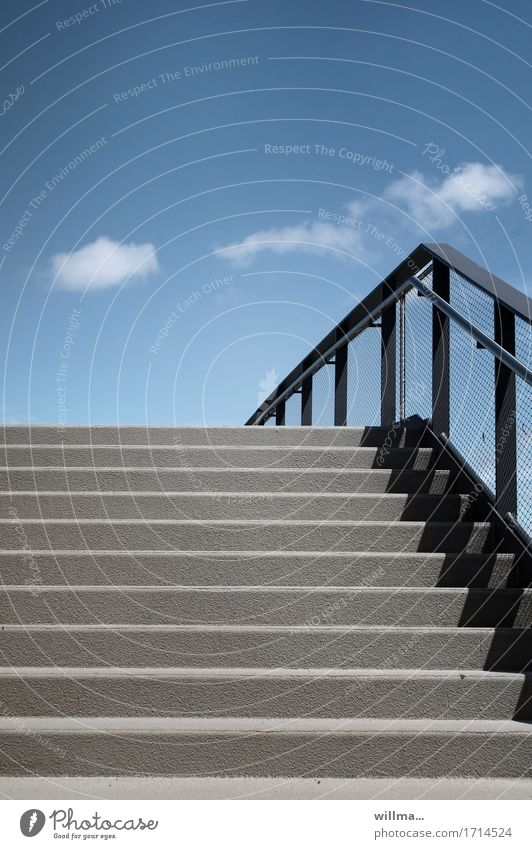 Blue Gray Stairs Simple Bridge Level Graphic Banister Impersonal Puristic Railroad crossing