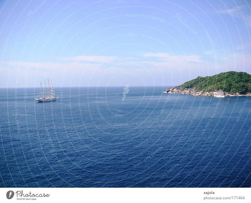 Sky Nature Blue Water Vacation & Travel Summer Ocean Animal Environment Landscape Air Horizon Waves Rock Island Tourism