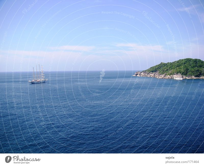 Sky Nature Blue Water Vacation & Travel Summer Ocean Animal Environment Landscape Air Horizon Waves Rock Island Tourism
